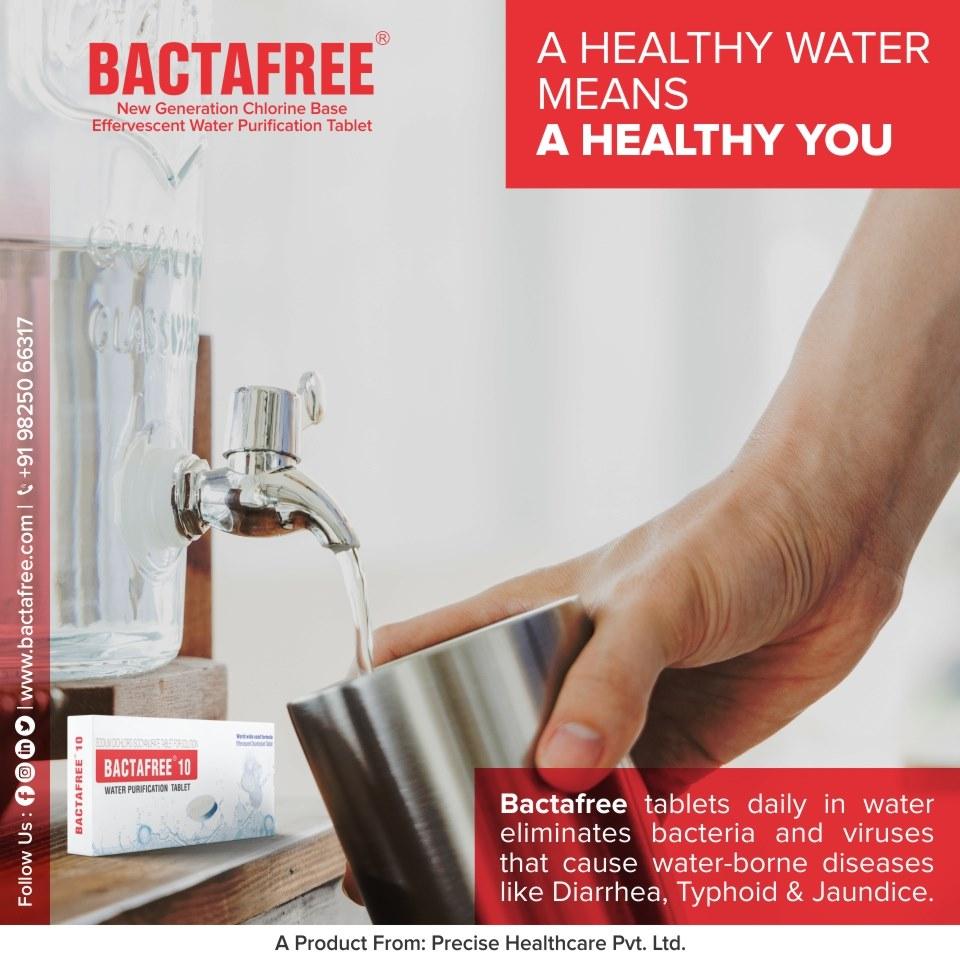 Bactafree-10 Water Purification Tablet Chlorine Tablet For Drinking Water Purification