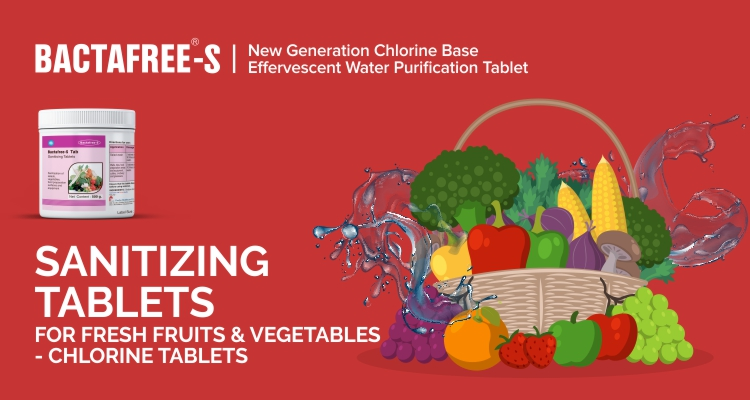 Sanitizing Tablets For Fresh Fruits & Vegetables - Chlorine Tablets