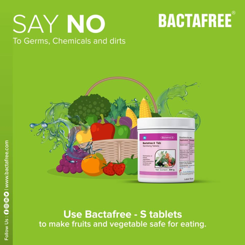 Bactafree - S for vegetable cleaning