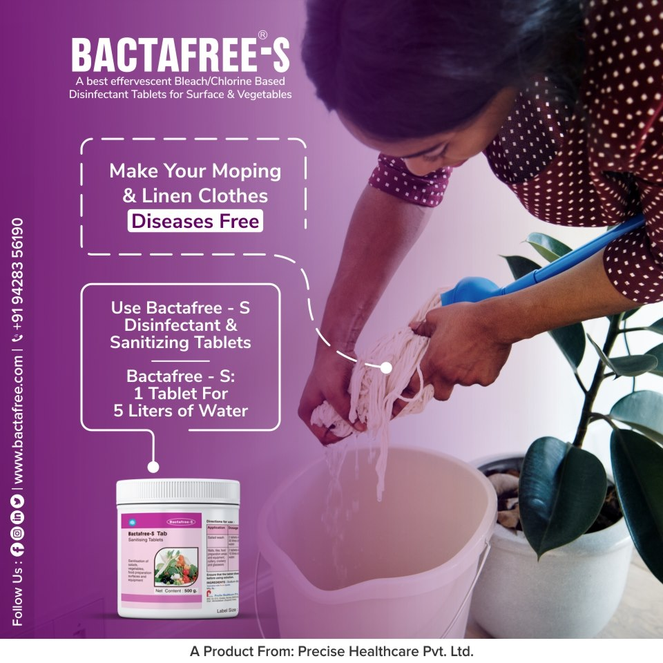 Using Bactafree - S For Moping And Linen Cloth Disinfecting
