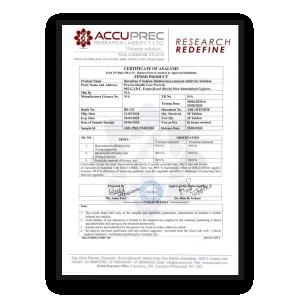 Bactafree Proven Certificate - Remove 99.99% Bacteria
