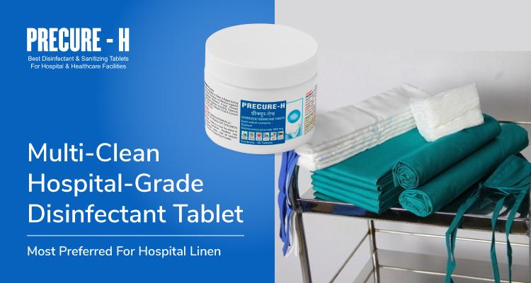 Multi Clean Hospital Grade Disinfectant Tablet Most Preferred For Hospital Linen